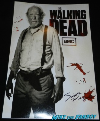scott wilson signed autograph hershel mini poster the walking dead season 4 premiere red carpet norman reedus hot 171