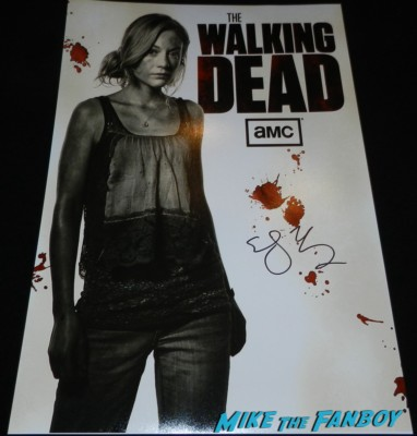 emily kinney signed autograph the walking dead mini poster the walking dead season 4 premiere red carpet norman reedus hot 173