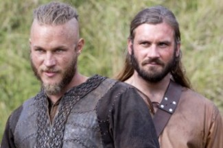 vikings press promo still ravis fimmell rare ragnar lothbrook
