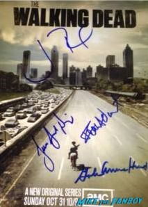 walking dead signed poster autograph rare