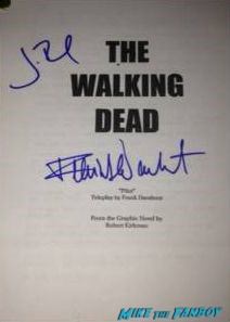 walking dead signed script walking dead signed poster autograph rare