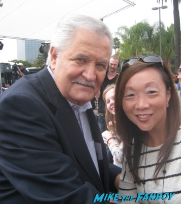 """john aniston fan photo signing autographs for fans Deidre Hall (""""Dr. Marlena Evans"""") and John Aniston (""""Victor Kiriakis"""") days of our lives event"""