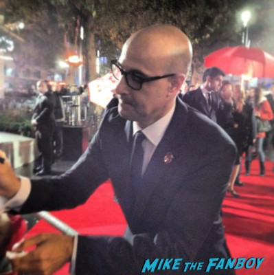 stanley Tucci Signing autographs hunger games catching fire uk movie premiere