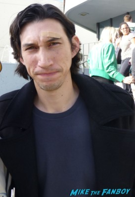 Adam Driver signing autographs for fans