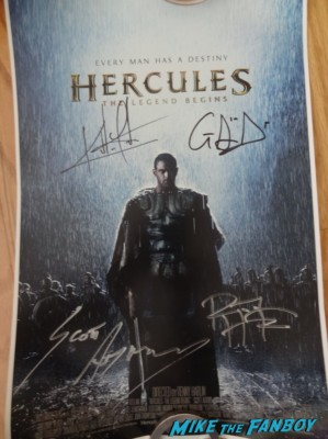 Hercules poster signed autograph kellan lutz rare nycc 2013