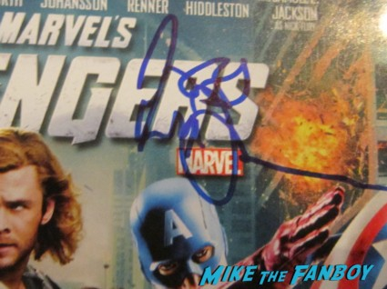 Joss Whedon signed autograph avengers dvd cover rare promo