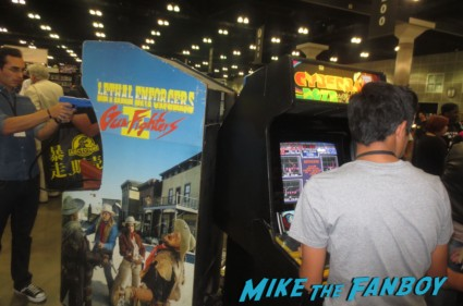 video game museum display at catwoman whpping lessons at comikaze 2013 cosplay thor rare loki ghostbusters stan lee 059