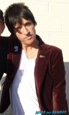 Johnny Marr signing autographs for fans the smiths