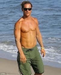 Matthew McConaughey hot naked shirtless photo rare flex muscle rare promo
