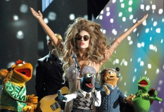 Muppets and Lady Gaga