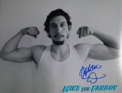 adam driver signed autograph photo rare promo Adam Driver signing autographs for fans