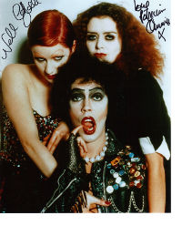 rocky horror picture show signed autograph photo tim curry nell campbell paricia quinn