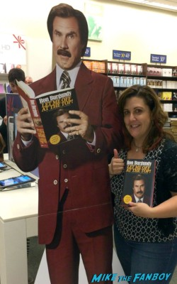 ron burgundy book signing let me off at the top will ferrell signing autographs let me off at the top by ron burgundy book signing rare