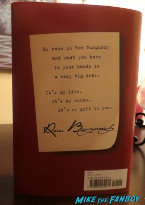 let me off at the top by ron burgundy book signing rare