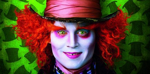 alice in wonderland movie poster johnny depp