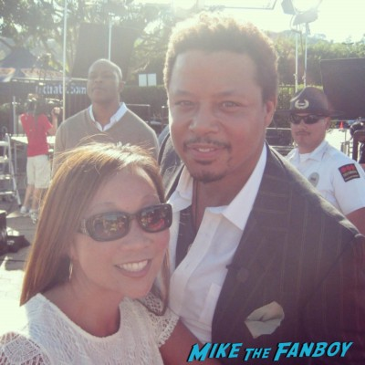 Terrence Howard signing autographs rare fan photo rare promo hot