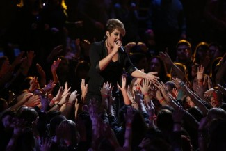 """THE VOICE -- """"Live Show"""" Episode 516B -- Pictured: Tessanne Chin -- (Photo by: Tyler Golden/NBC)"""