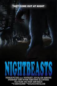 Nightbeasts one sheet promo poster rare Nightbeasts press promo still photo zach galligan