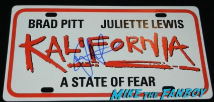 juliette lewis signed autograph Kalifornia promo license plate rare