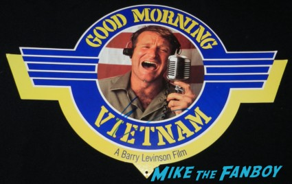 robin williams signed autograph good morning vietnam mobile rare
