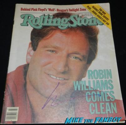 robin williams signed autograph rolling stone magazine cover rare