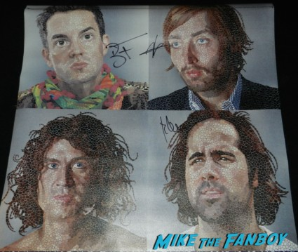 the killers signed autograph vinyl banner brandon flowers signing autographs jimmy kimmel live 2013 046