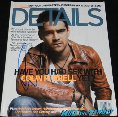 colin farrell signed autograph details magazine rare