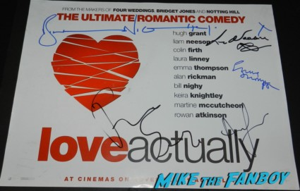 emma thompson signed autograph love actually liam neeson bill nighy andrew lincoln