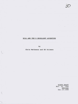 bill and ted's excellent adventure script