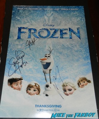 frozen signed autograph movie poster jonathan groff movie premiere los angeles red carpet 050