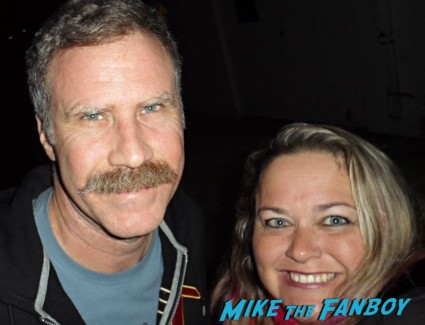 hobby - will ferrell signing autographs fan photo