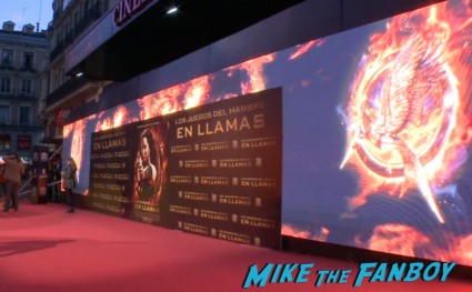 hunger games catching fire madrid spain red carpet jennifer lawrence