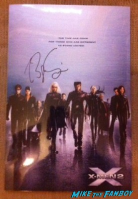 bryan singer x2 mini poster signed autograph rare