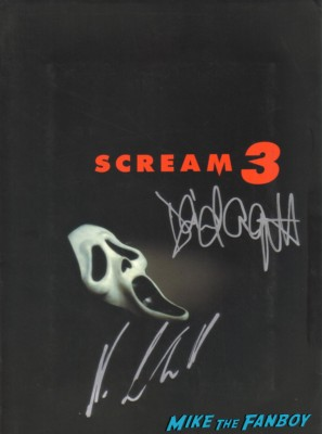 scream entertainment weekly magazine cover signed autograph