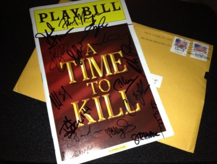 a time to kill playbill rare signed autograph promo tom skerritt