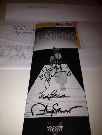The landing signed playbill rare promo