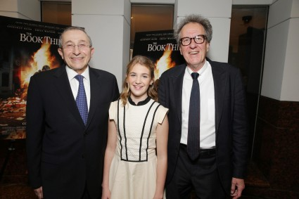 Rabbi Marvin Hier, Sophie Nelisse, Geoffrey Rush