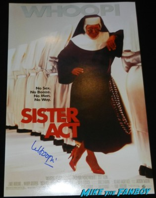 whoopi goldberg signed autograph sister act poster whoopi goldberg signing autographs for fans whoopi goldberg signing autographs for fans