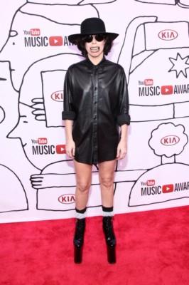 Lady Gaga  at youtube awards with skylar grey lady gaga red carpet (11)MIA