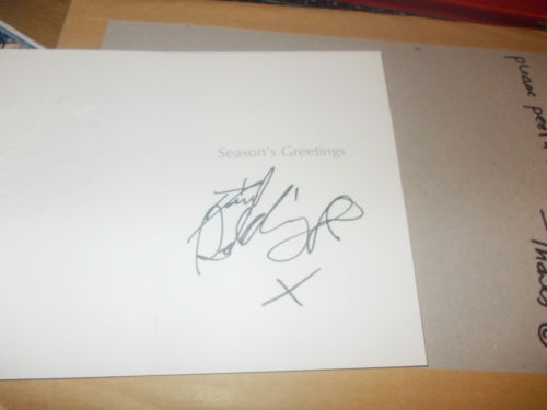 daniel radcliffe signed autograph christmas card