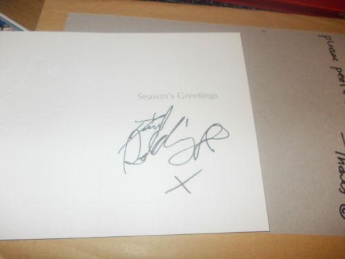 daniel radcliffe signed autograph christmas card