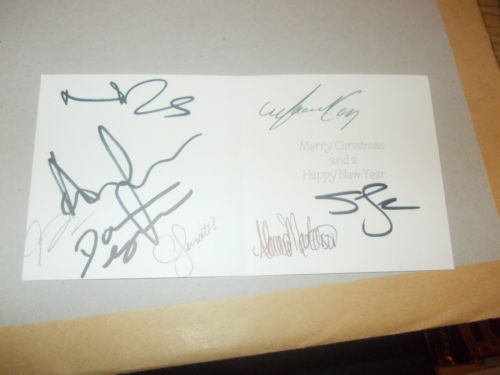 the walking dead cast signed autograph christmas card
