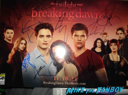 signed twilight cast poster rare