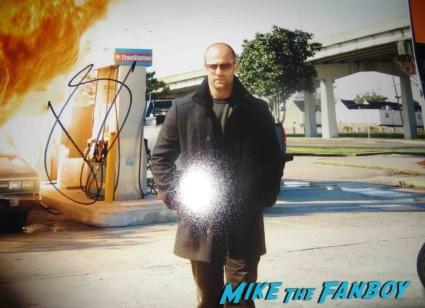 jason stathem signed autograph photo rare promo Jason Stathem signing autographs for fans