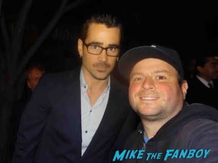colin farrell signing autographs for fans