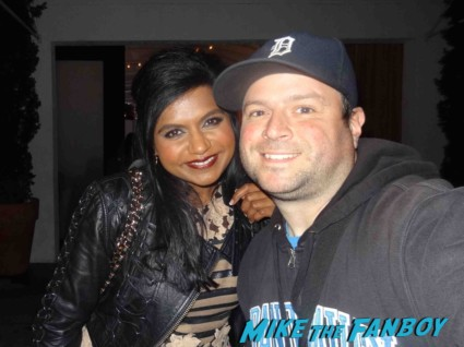 Mindy Kaling signing autographs for fans