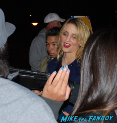 Dianna Agron signing autographs rare glee star rare