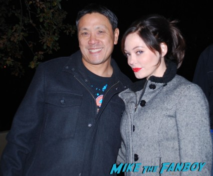 rose McGowan signing autographs for fans rare
