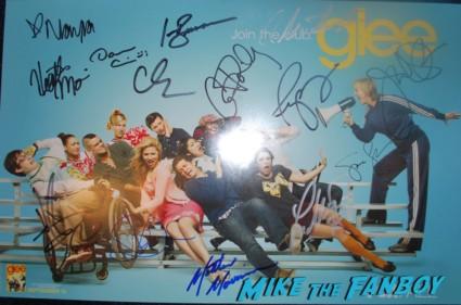 Dianna Agron signing autographs rare glee star rare