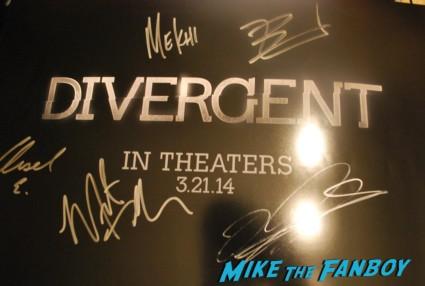 Divergent signed autograph mini poster miles teller